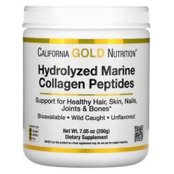 California Gold Nutrition, 加水分解海洋コラーゲンペプチド、無香料、200g(7.05オンス)