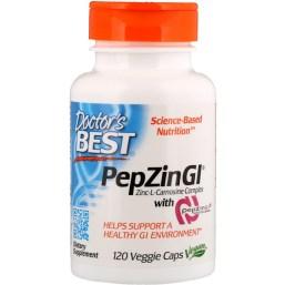 Doctor's Best, ペプジンGI(PepZin Gl)使用の亜鉛-Lカルノシン複合体