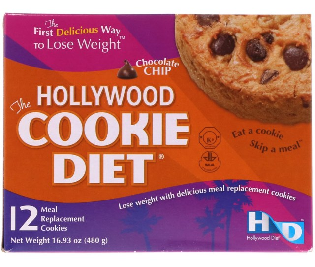 Hollywood Diet The Hollywood Cookie Diet Chocolate Chip  Meal Replacement Cookies