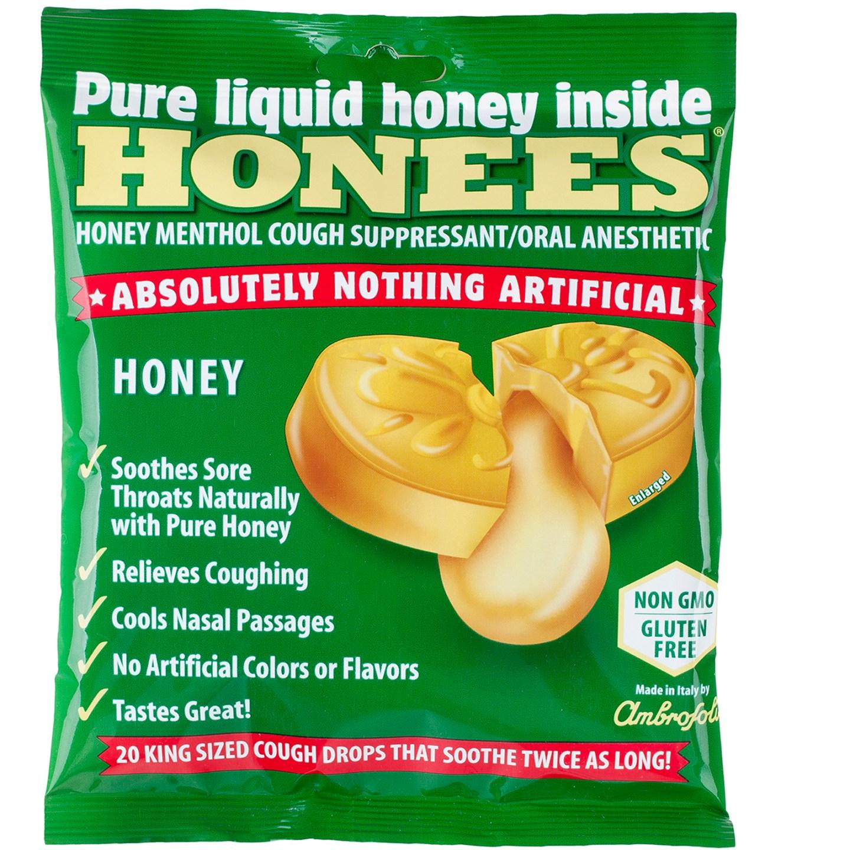 Honees Honey Menthol Cough Suppressant Drops