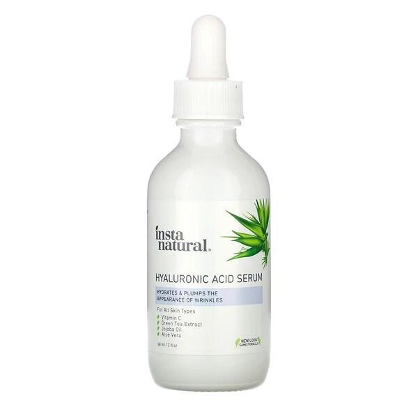 InstaNatural, ヒアルロン酸セラム、60ml(2液量オンス)
