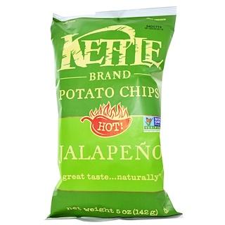 Kettle Foods, رقائق البطاطس، الحارة! بالفلفل الحار جالابينو، 5 أوقية (142 جم)