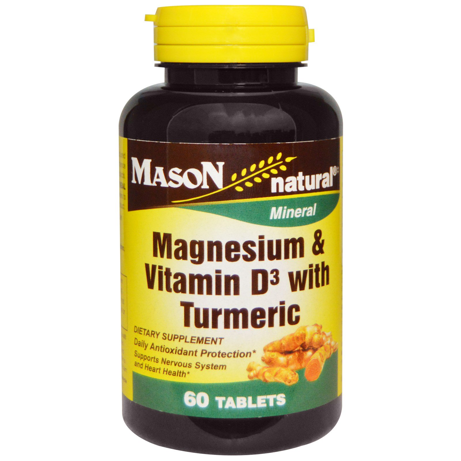 Mason Natural Magnesium Amp Vitamin D3 With Turmeric 60