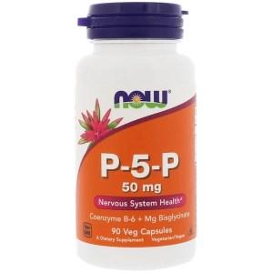 Now Foods, P-5-P、50 mg、90ベジカプセル