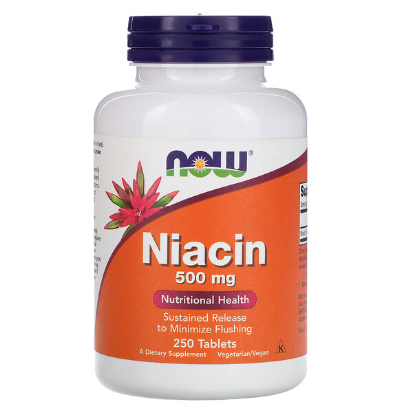 Now Foods, ナイアシン、500 mg、250錠