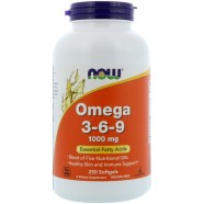 Now Foods, Omega 3-6-9, 1 000 mg, 250 gélules