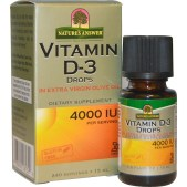 Nature's Answer, Gouttes de vitamine D-3, 4000 UI, 0,5 ml (15 ml)