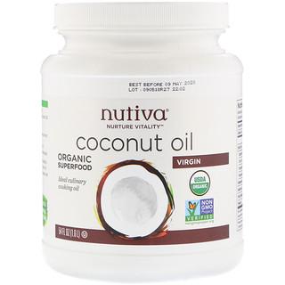 Nutiva, زيت جوز الهند البكر، 54 أوقية سائلة (1.6 لتر)