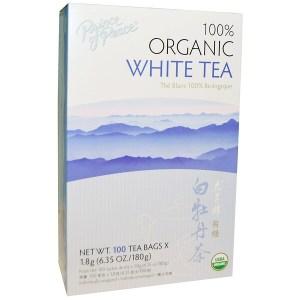 Prince of Peace, شاي أبيض عضوي 100%، 100 كيس، 1.8 غ كل منهم