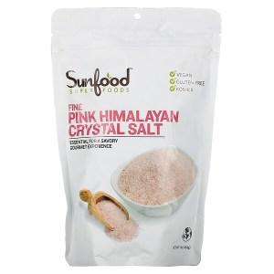 Sunfood, ملح هيمالايا البلوري النقي، 1 رطل (454 جم)
