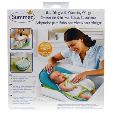 Summer Infant, مسند استحمام مع أجنحة مدفئة، 1 طقم