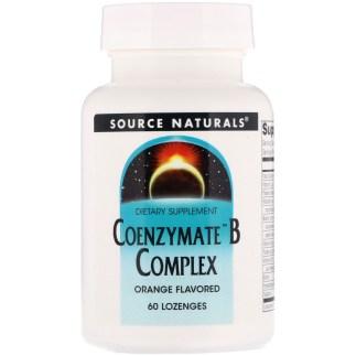 Source Naturals、コエンザイメートBコンプレックス、オレンジ風味、60錠