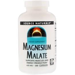 Source Naturals, リンゴ酸マグネシウム 625 mg, 200 Capsules