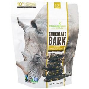 Endangered Species Chocolate, شوكولت بارك، الشوكولاته الداكنة المملحة البندق الحلوى، 4.7 أوقية (133 غرام)