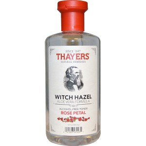 Thayers, تركيبة الألوفيرا والهاماميليس، مهدئ خالي من الكحول، ورق الورد، 12 أونصة سائلة (355 مل)