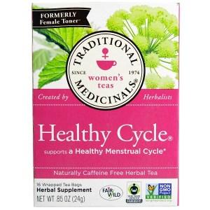Traditional Medicinals, دورة صحية، خالي من الكافيين، 16 كيس شاي ملفوف، .85 أوقية (24 ج)