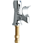 Chicago Faucets 748 665abcp Chrome Drinking Fountain Faucet With Anti Microbial Projector Head And Push Knob Handle Faucet Com