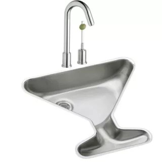 undermount single basin martini glass