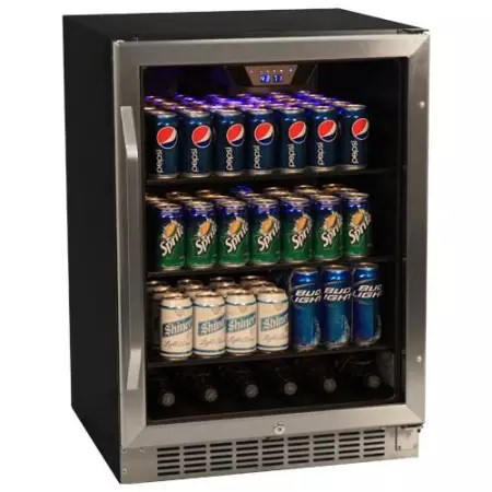EdgeStar 148 Can Stainless Steel Beverage Cooler - CBR1501SG