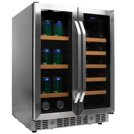 24 Inch Built-In Wine and Beverage Cooler with French Doors - CWB1760FD