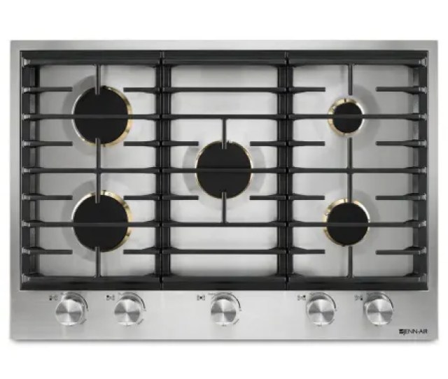 30 Inch Wide Built In Gas Cooktop With Dual Stacked Powerburner