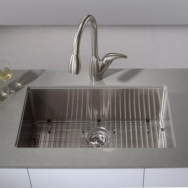 Kraus KHU100 30 Kitchen Sink Build