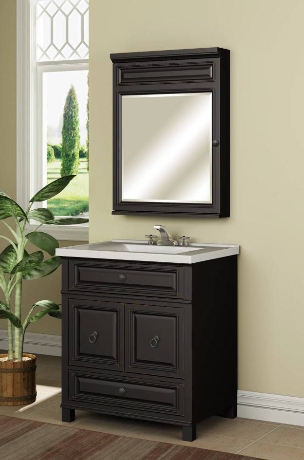 "miseno mvbh30com antique espresso 30"" bathroom vanity set - cabinet"