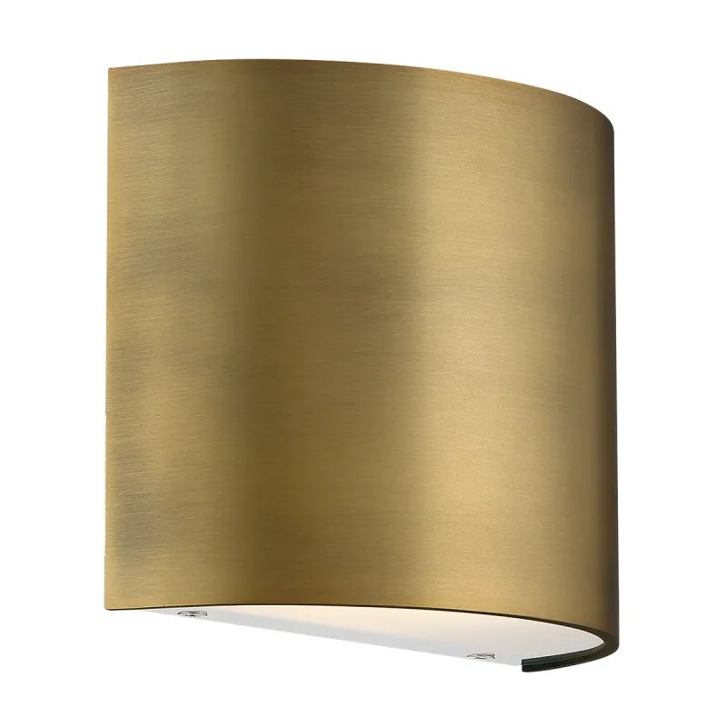 wac lighting wac lighting ws 30907 pocket 6 tall led wall sconce aged brass indoor lighting wall sconces from build com inc accuweather