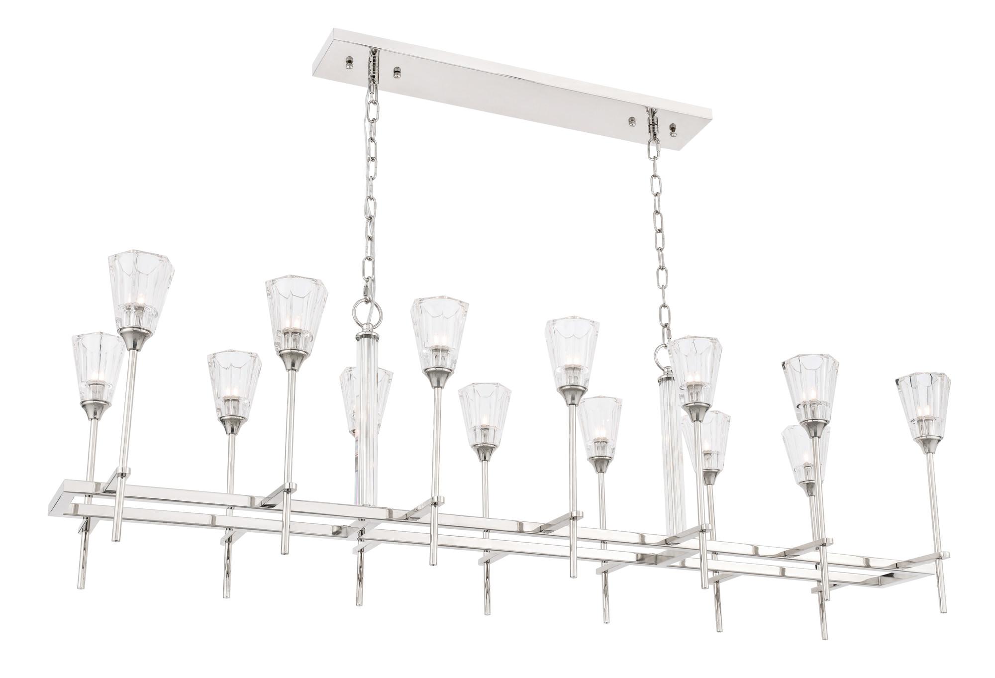 Elegant Lighting D60 Nickel Soiree 14 Light 60 W