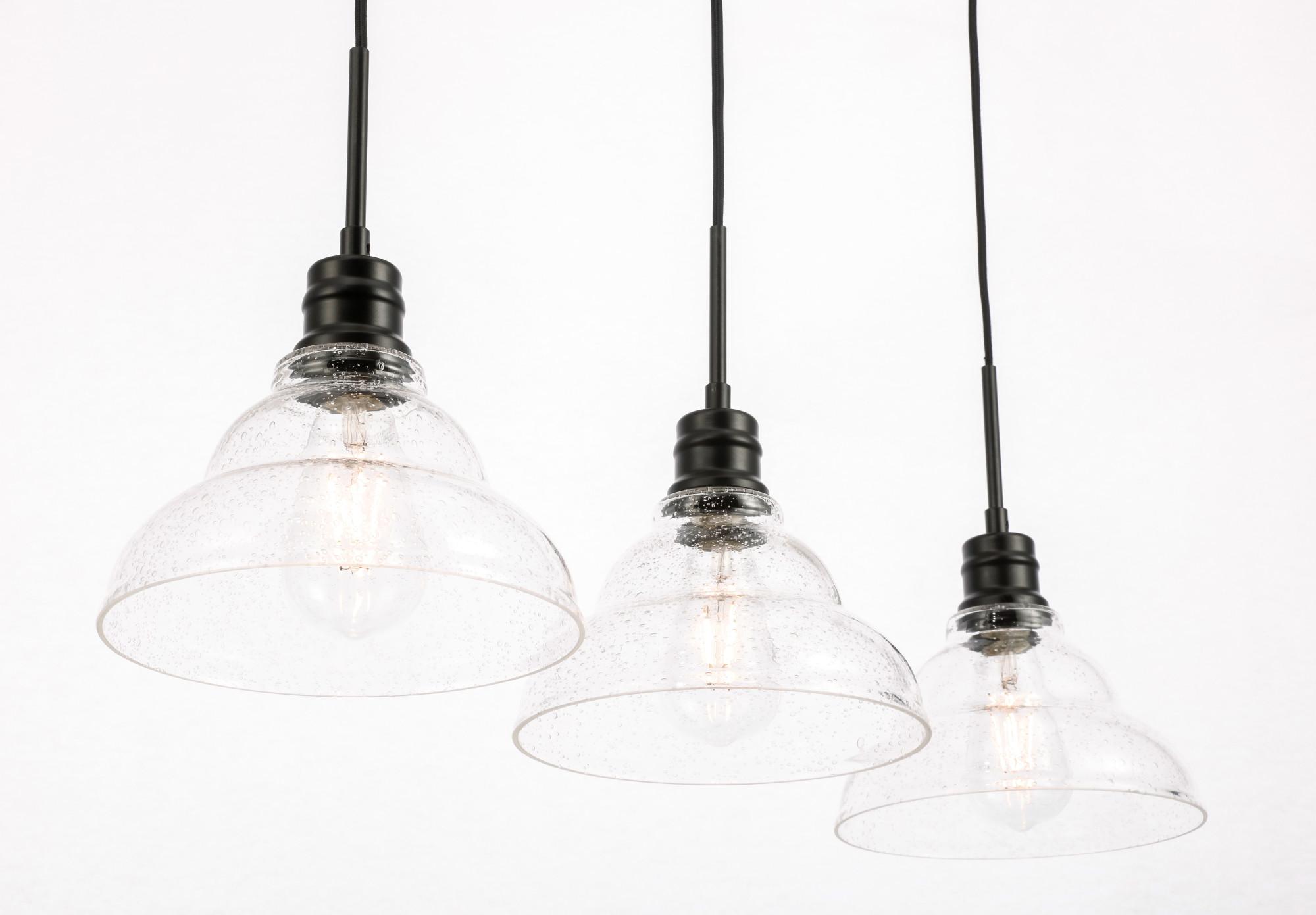 Elegant Lighting Ld Black Clive 3 Light 35 W Linear
