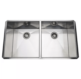 Rohl RSS3518SB Brushed Stainless Steel 35 5050 Double