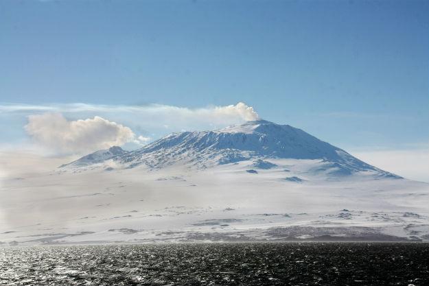Mount Erebus in Antarctica