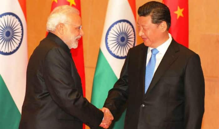 Image result for Narendra Modi at SCO with Xi