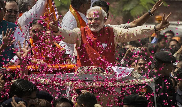 Image result for modi rally after winning election 2017