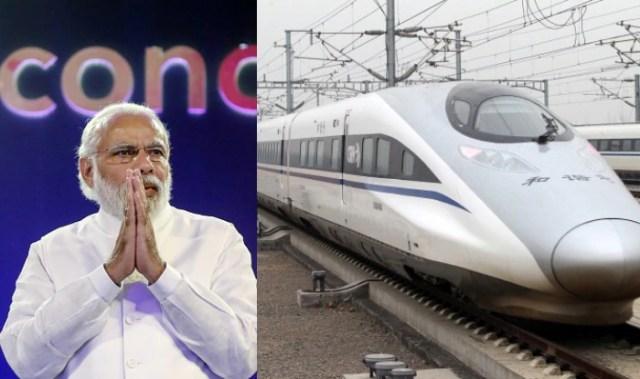 Image result for बुलेट ट्रेन और मोदी