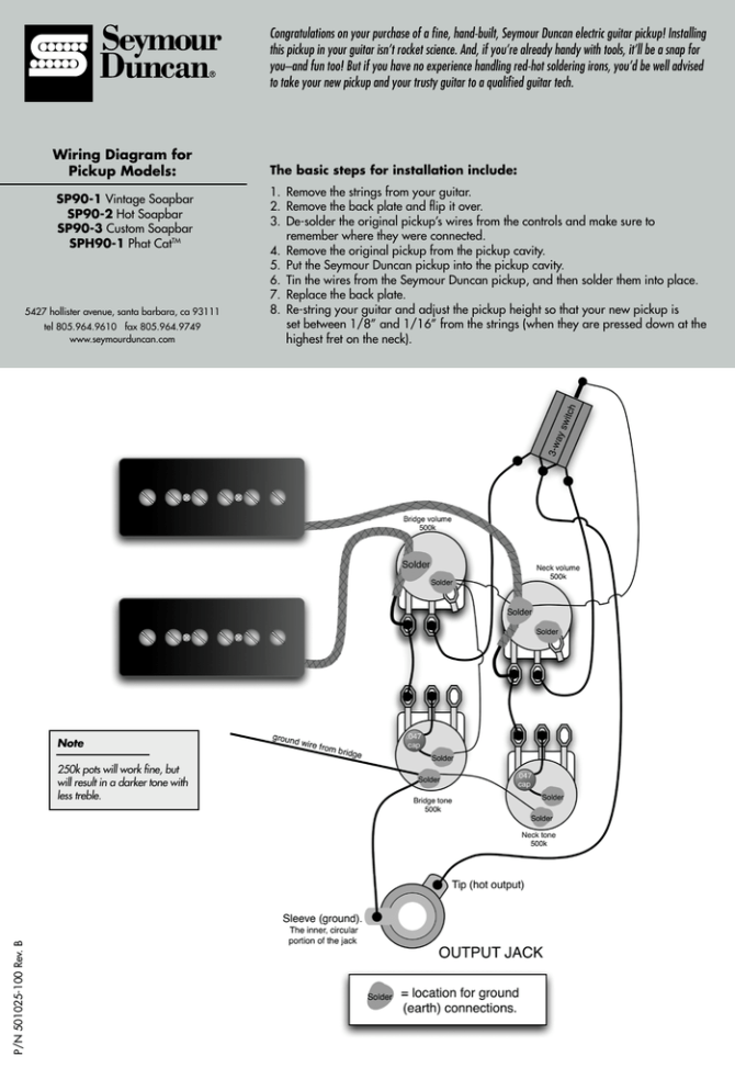seymour duncan phat cat wiring diagram pdf  manualzz