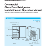 Commercial Glass Door Refrigerator Installation And Operation Manual Feature Chart Manualzz