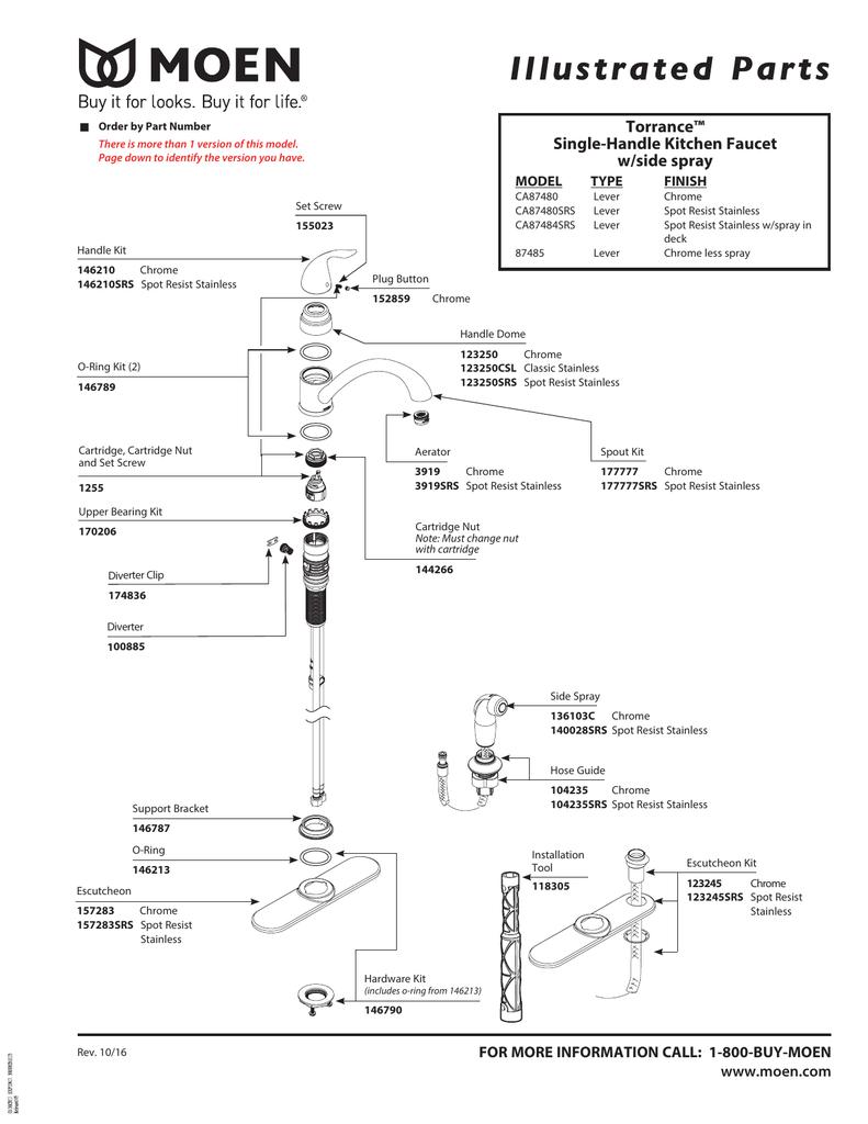 moen ca87484srs ca87480srs operating