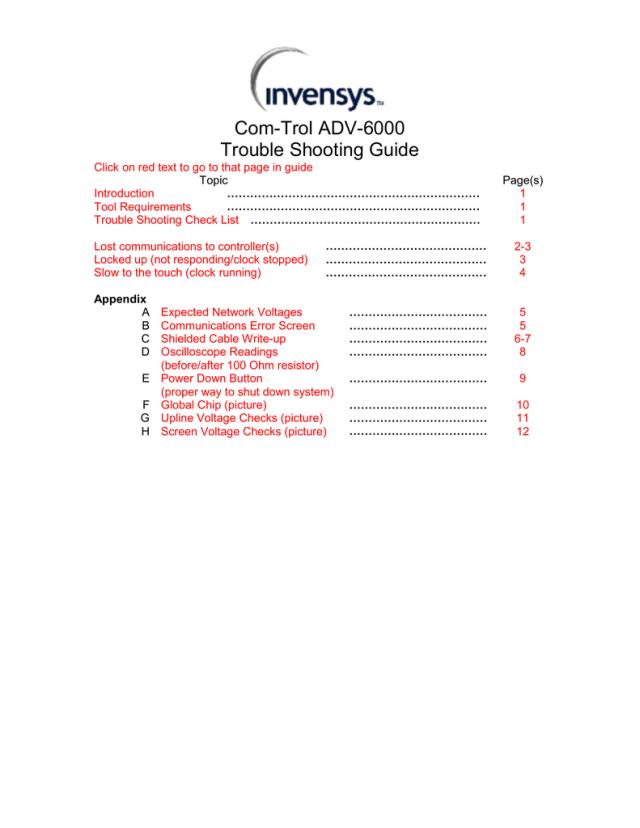 Comtrol ADV-30 Troubleshooting Guide  Manualzz
