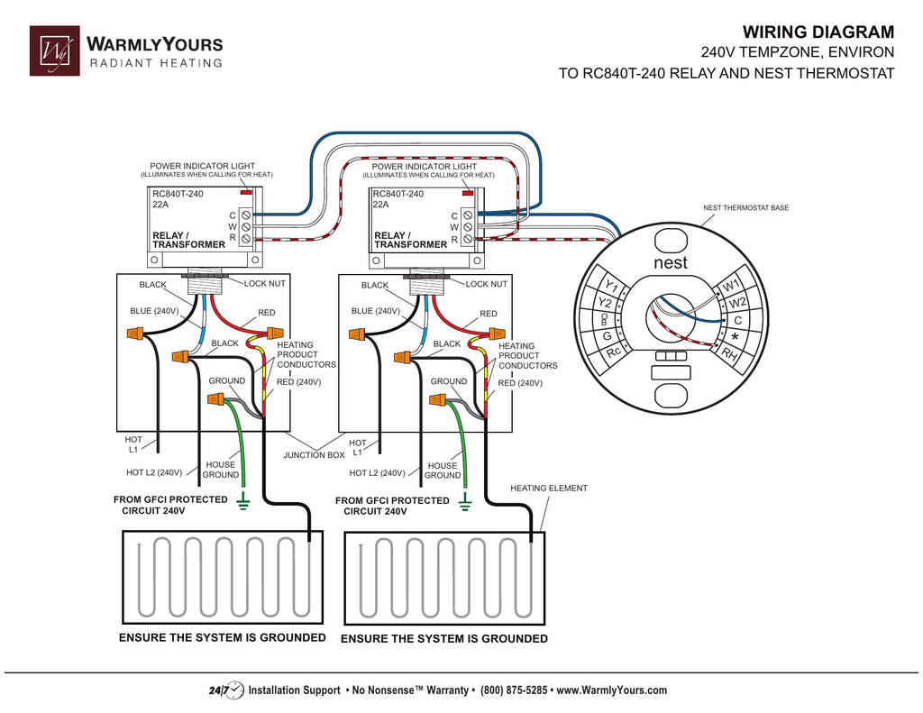 Nest Thermostat Wiring Schematic