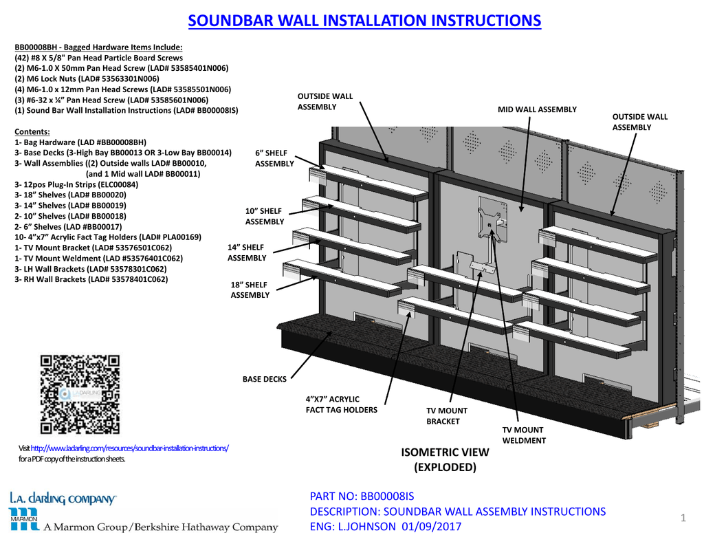 Soundbar Wall Installation Instructions Manualzz Com