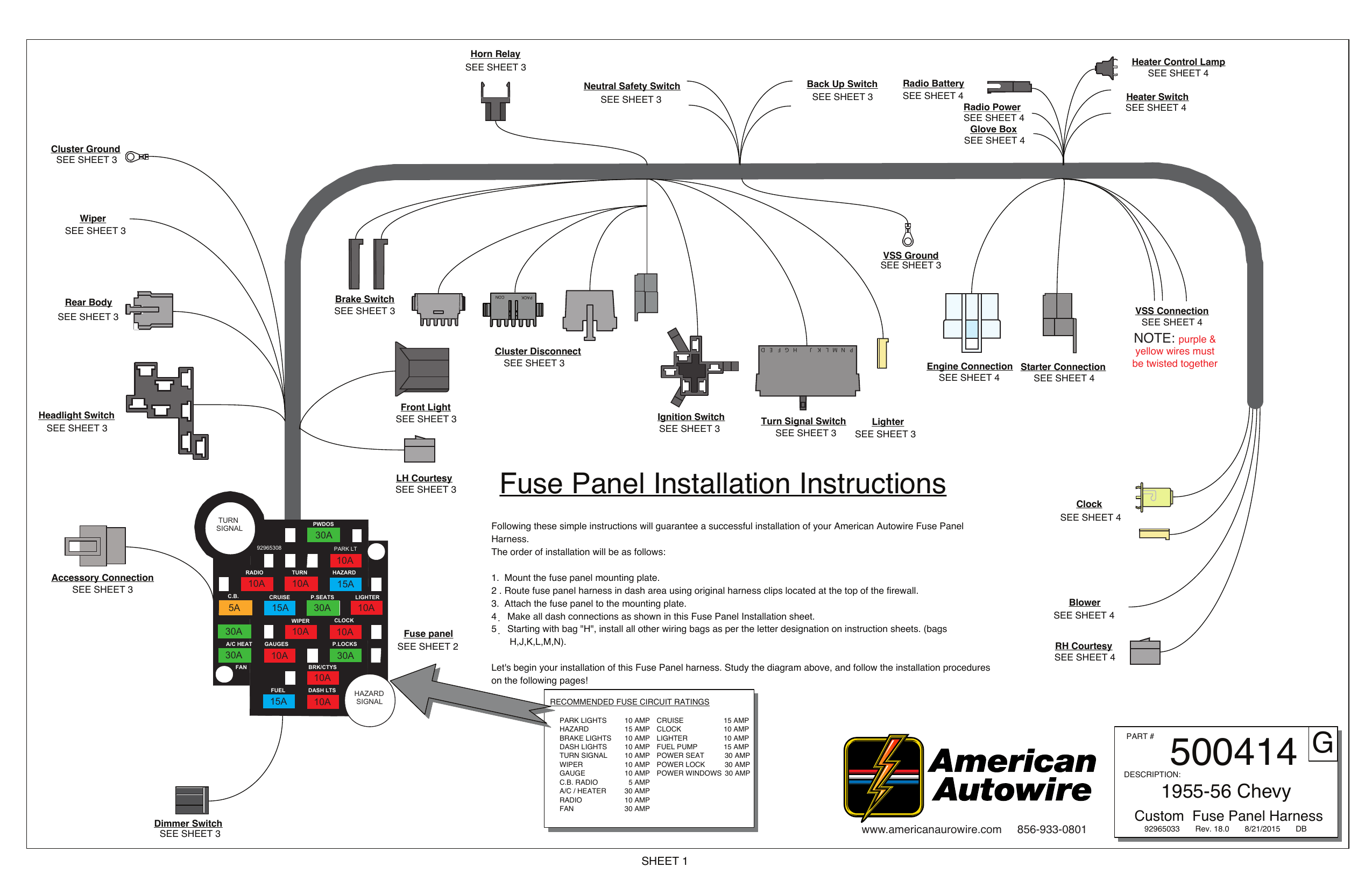 Fuse Panel Installation Instructions G