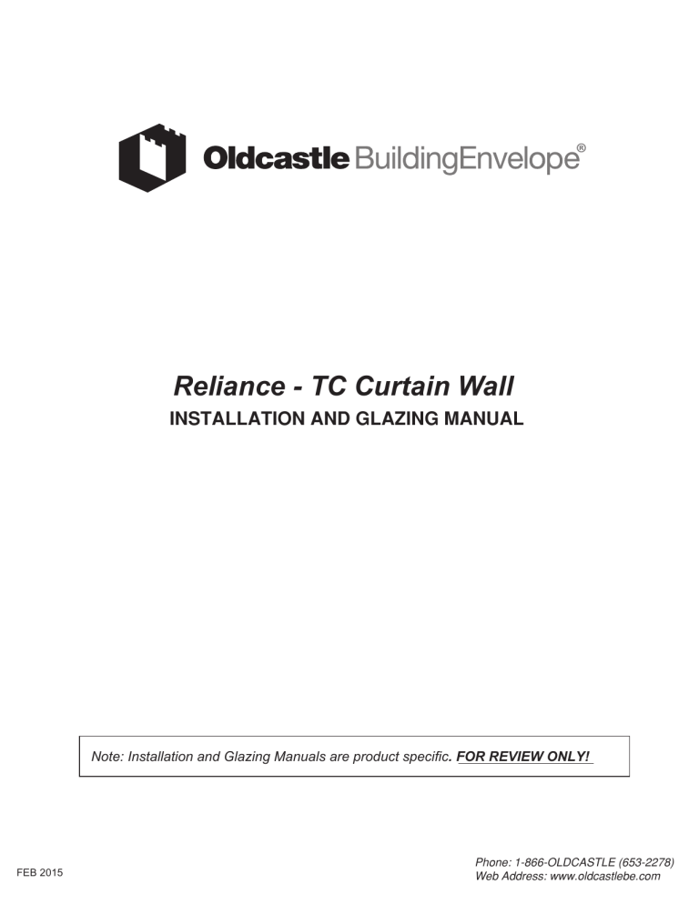 reliance tc curtain wall oldcastle
