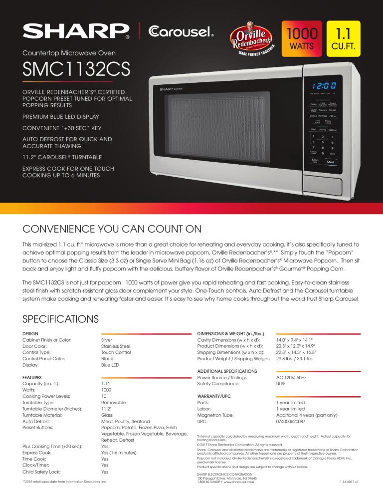 sharp smc1132cs specification manualzz