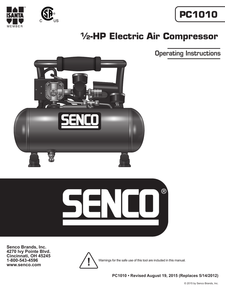 Senco Pc1010 Pc0947 Combo Owner S