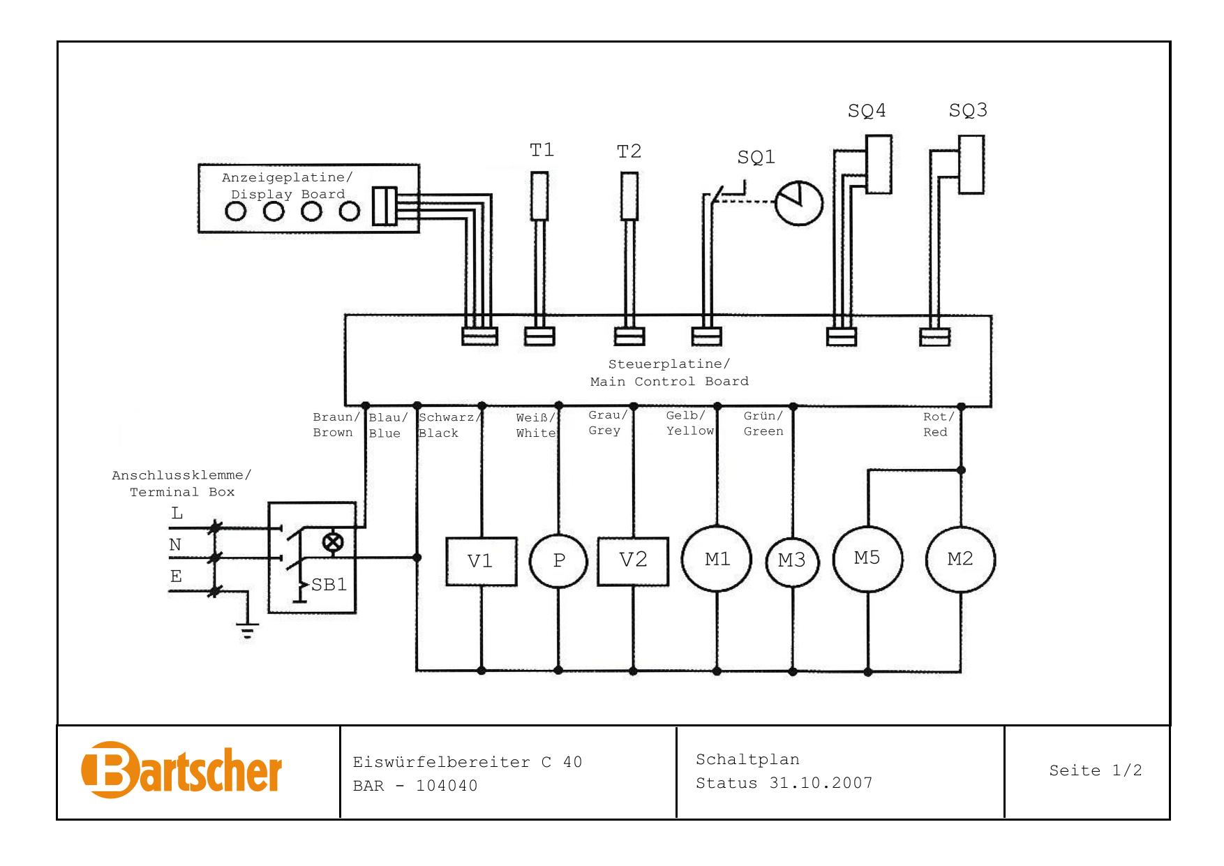 Bartscher Ice Cube Maker C40 Wiring Diagram