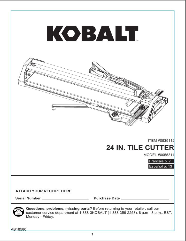 kobalt 55311 user guide manualzz