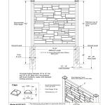 Simtek Fp72x72beg Ecostone 6 Ft H X 6 Ft W Beige Composite Fence Panel Specification Manualzz