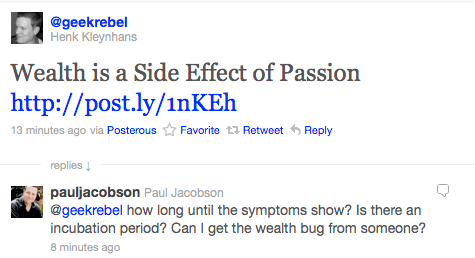 Wealth passion tweet
