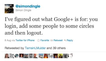 Twitter   simondingle I ve figured out what Goog